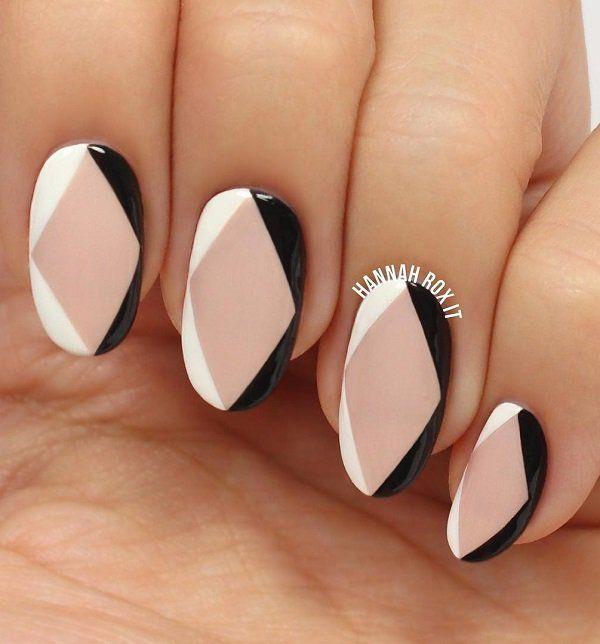 Geometrische Nagelkunstideen #Acryl #Nagel #bruiloft #makkelijk #glitter #Gellak