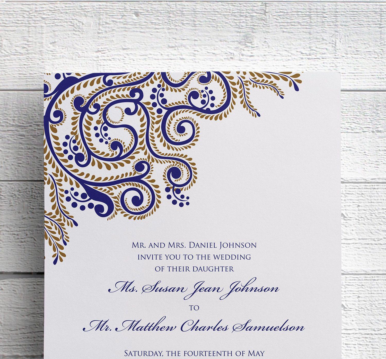 Indian Wedding Invitations Sangeet Invitations Indian Event | Veeru ...