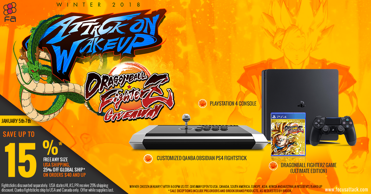 Win a Playstation 4 console, Dragon Ball Z FighterZ
