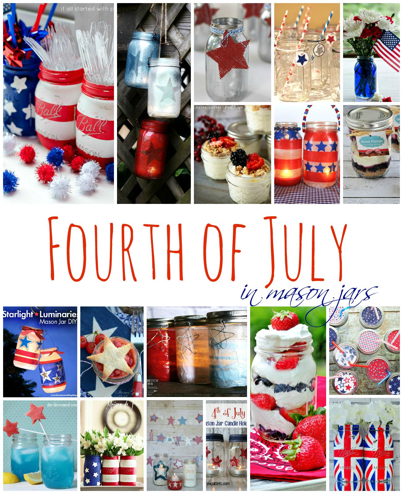 Stars u stripes lanterns projects to try pinterest mason jar