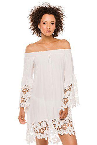 edf6a0a26a Muche et Muchette Women s Cottons Dress Swim Cover Up Whi... https