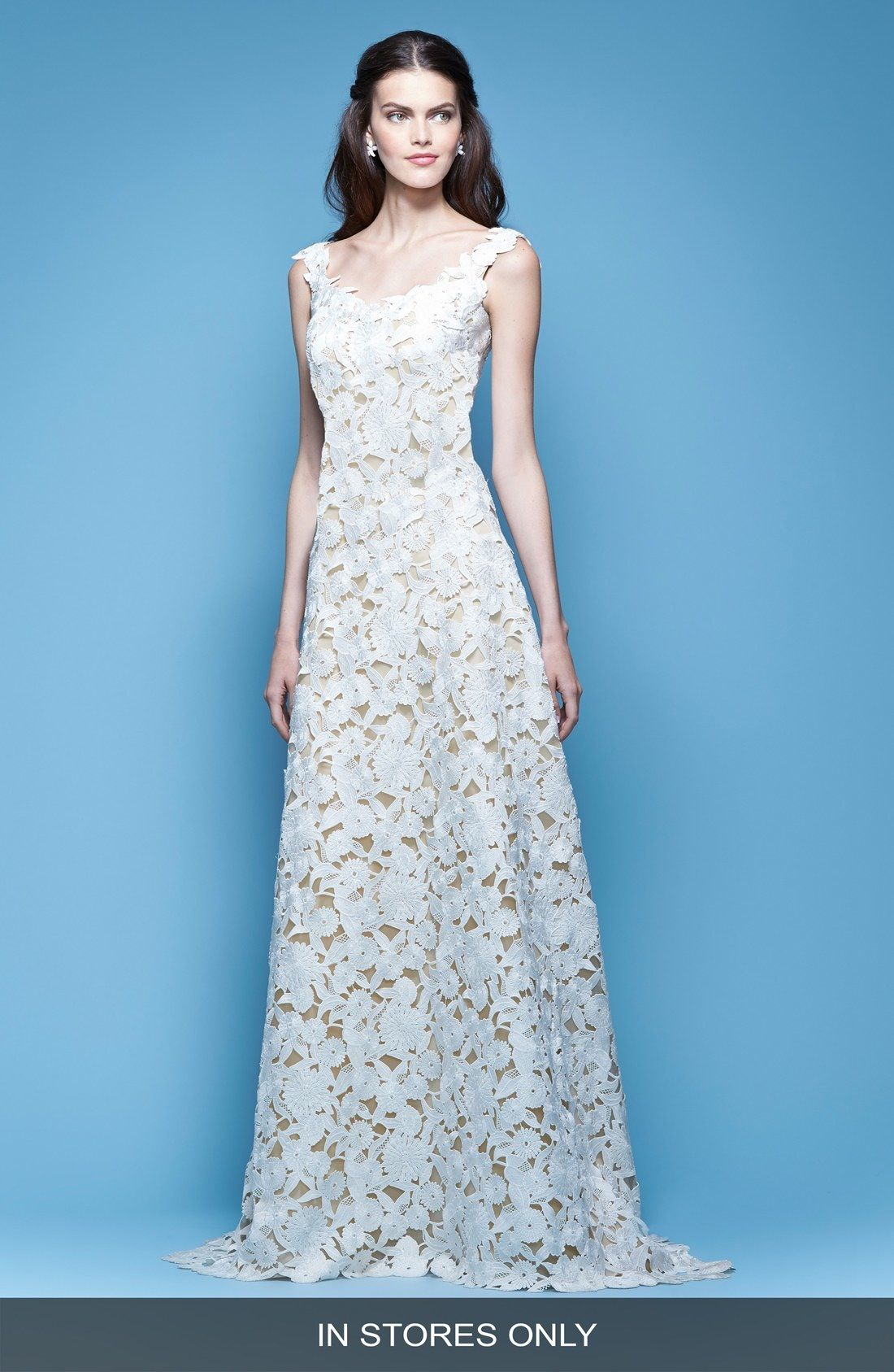 Carolina Herrera Guipure Lace A-Line Gown (In Stores Only) available ...