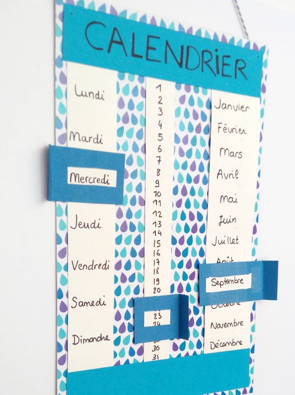 Favorit Calendrier perpétuel | Bricolage pour enfant, Calendrier et Fiches FC21