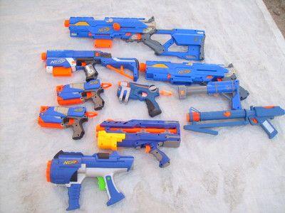 Blue & Orange Nerf N-Strike Longshot CS-6 Sniper Rifle Dart Gun Bipod