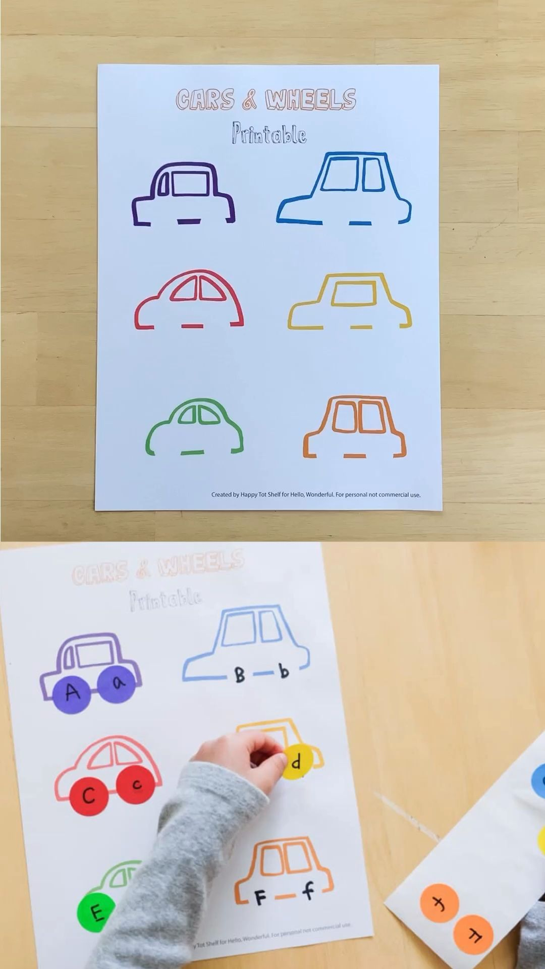 Use This Free Cars And Wheels Printable As A Fun Learning