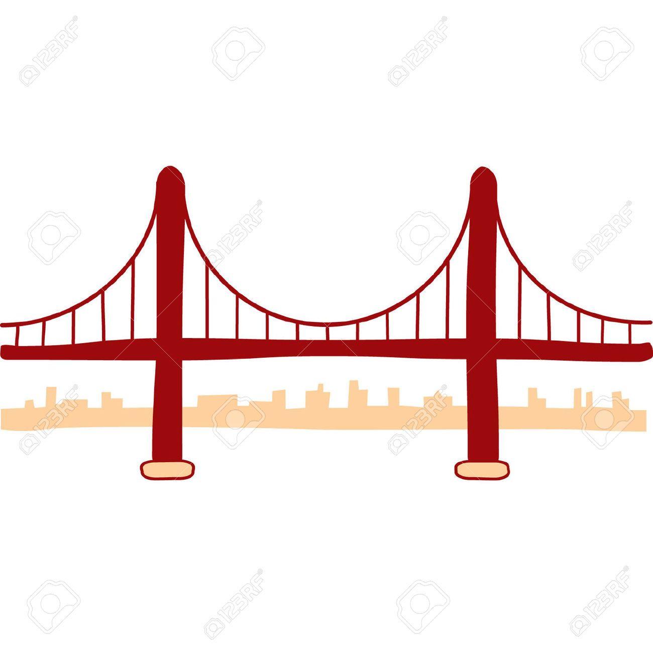 Printable coloring pages golden gate bridge - Golden Gate Bridge Outline Google Search