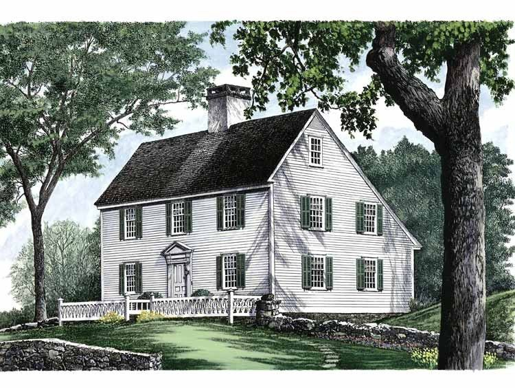 Colonial Style House Plan 3 Beds 2 Baths 2496 Sq Ft Plan 137 207 Historical House Plans Colonial House Plans Traditional House Plans