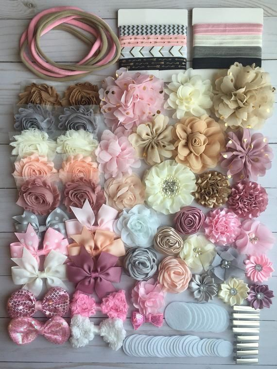DIY headband making, baby shower headband kit, birthday party, DIY hair set, hair accessories, headbands making kit, DIY headbands #babyhairaccessories