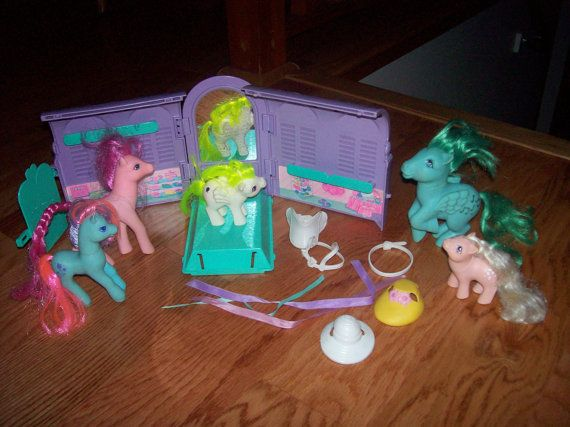My Little Pony Vintage Hasbro 1980's MLP Stable by TreasuredRetro, $39.99