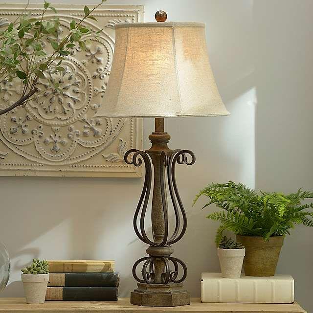 Dark Bronze Metal Curls Table Lamp | Table lamp, Lamp on Lanterns At Kirklands id=14901