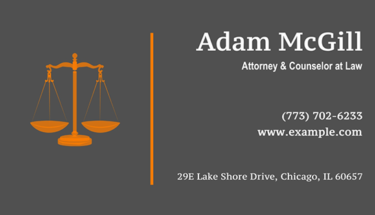 This lawyer business card designed with httpbusiness card maker both neat and informative with all of the major bullet points you need to reach the card owner make one yourself using business card maker software solutioingenieria Image collections