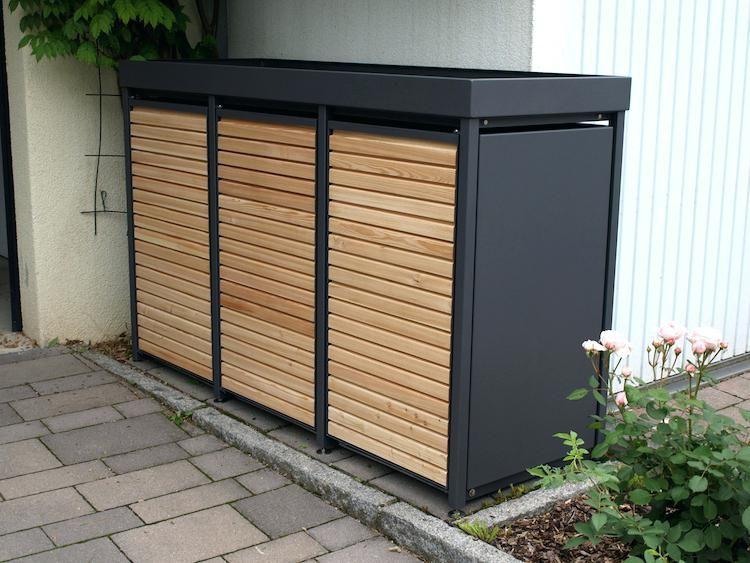 poubelle tonnenhaus fr 4 mlltonnen 240 liter freistehend. Black Bedroom Furniture Sets. Home Design Ideas