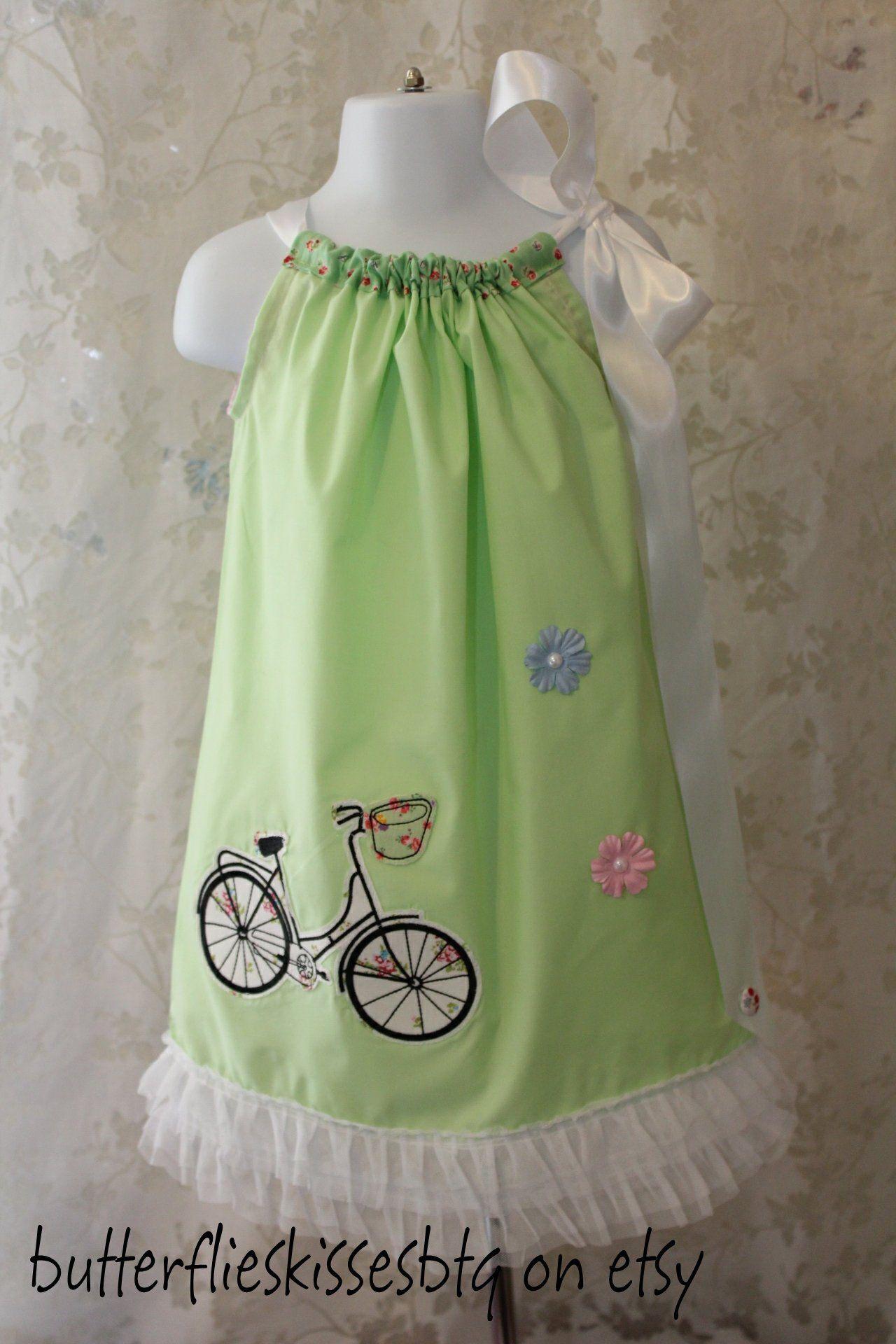 New Handmade Couture Pillowcase Dress Size 4t Lime Green With Etsy Pillowcase Dress Little Dresses Spring Wear [ 1920 x 1280 Pixel ]