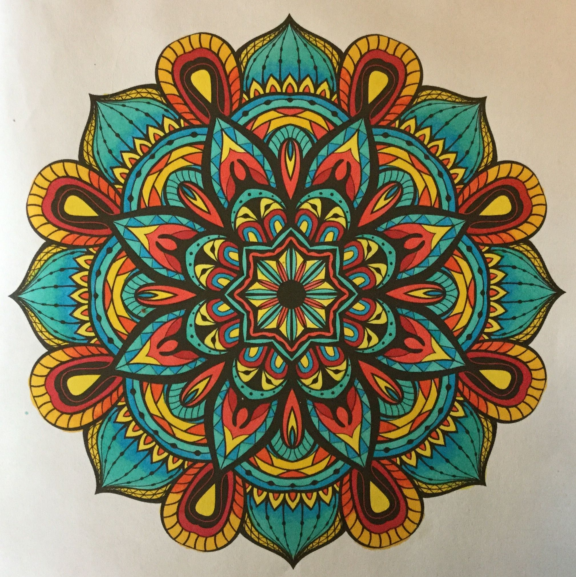 Mandala From Adult Coloring Books 2015 Colored By B