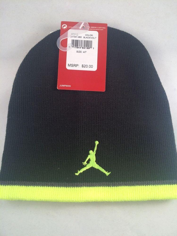 8ed285aaaa00 Nike Air Jordan Beanie Lid Boys Kids Youth Cap Hat