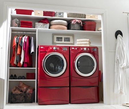 i love red laundry appliances