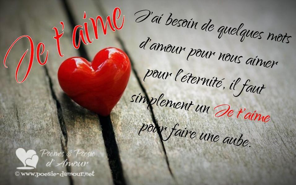 Magnifiques Textes Damour Pour Dire Je Taime Mots D