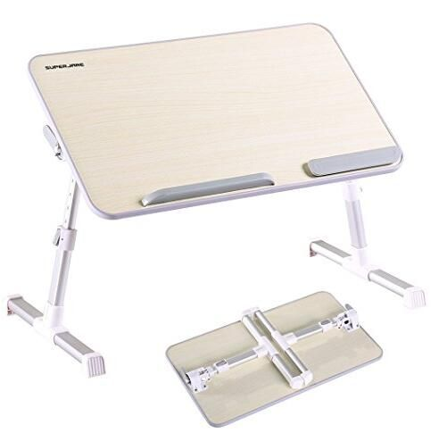 Adjustable Laptop Bed Tray Table Stand, Portable Standing Table With  Foldable Legs Multifunctional   As