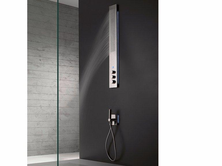 ZAZZERI OBLIQUA Colonna doccia a parete, termostatica. 3