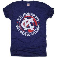 Kc Monarchs 1942 World Champs Charlie Hustle Kansas City Shirt American Baseball League Champs