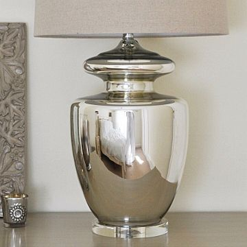 Large Silver Urn Table Lamp & Shade - This beautiful silver urn ...:Large Silver Urn Table Lamp & Shade - This beautiful silver urn table lamp  just goes,Lighting