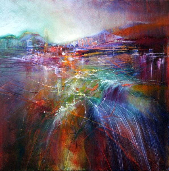 Annette Scmucker - painting of an abstract landscape