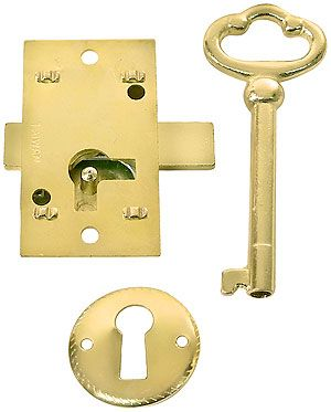 FREE UK Post 1 x Universal Budget Door Locks with Striker Plate /& T Key