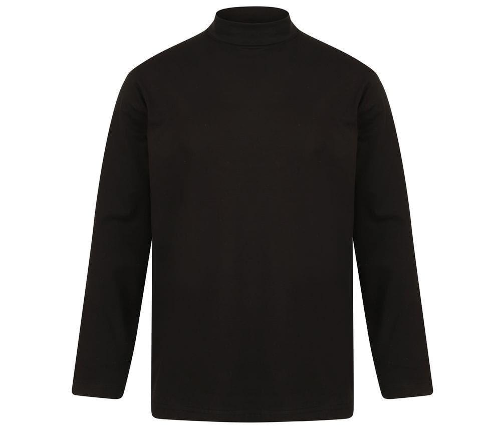 Top manches longues col roulé Noir – Henbury HY020 – Taille: S   – Products
