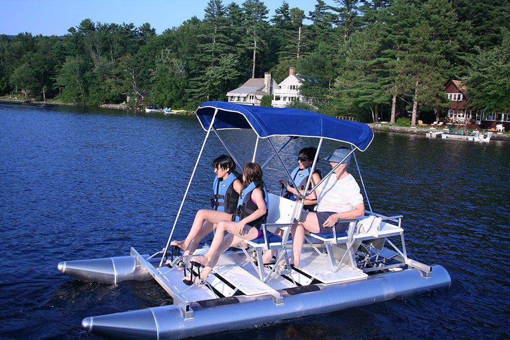 Aqua Cycle 4x4 Pontoon Paddle Boat Mini Pontoon Boats Paddle