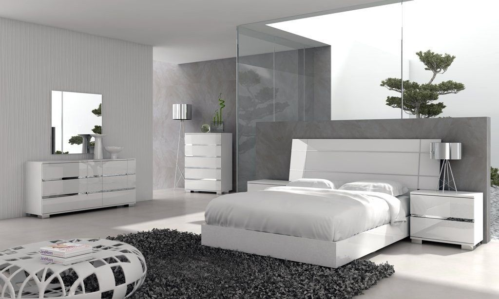 Amazing Dream Modern Bedroom Set With White Furniture Bedroom Set