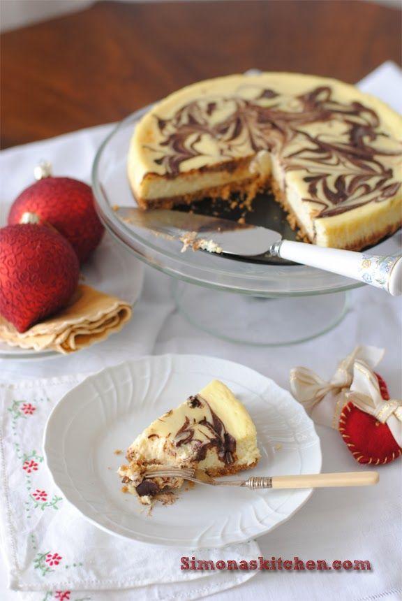 Simona'sKitchen: Cheesecake Marmorizzato di Gordon Ramsey - Gordon Ramsey Marbled Cheesecake - Le Cheesecake Marbré de Gordon Ramsey