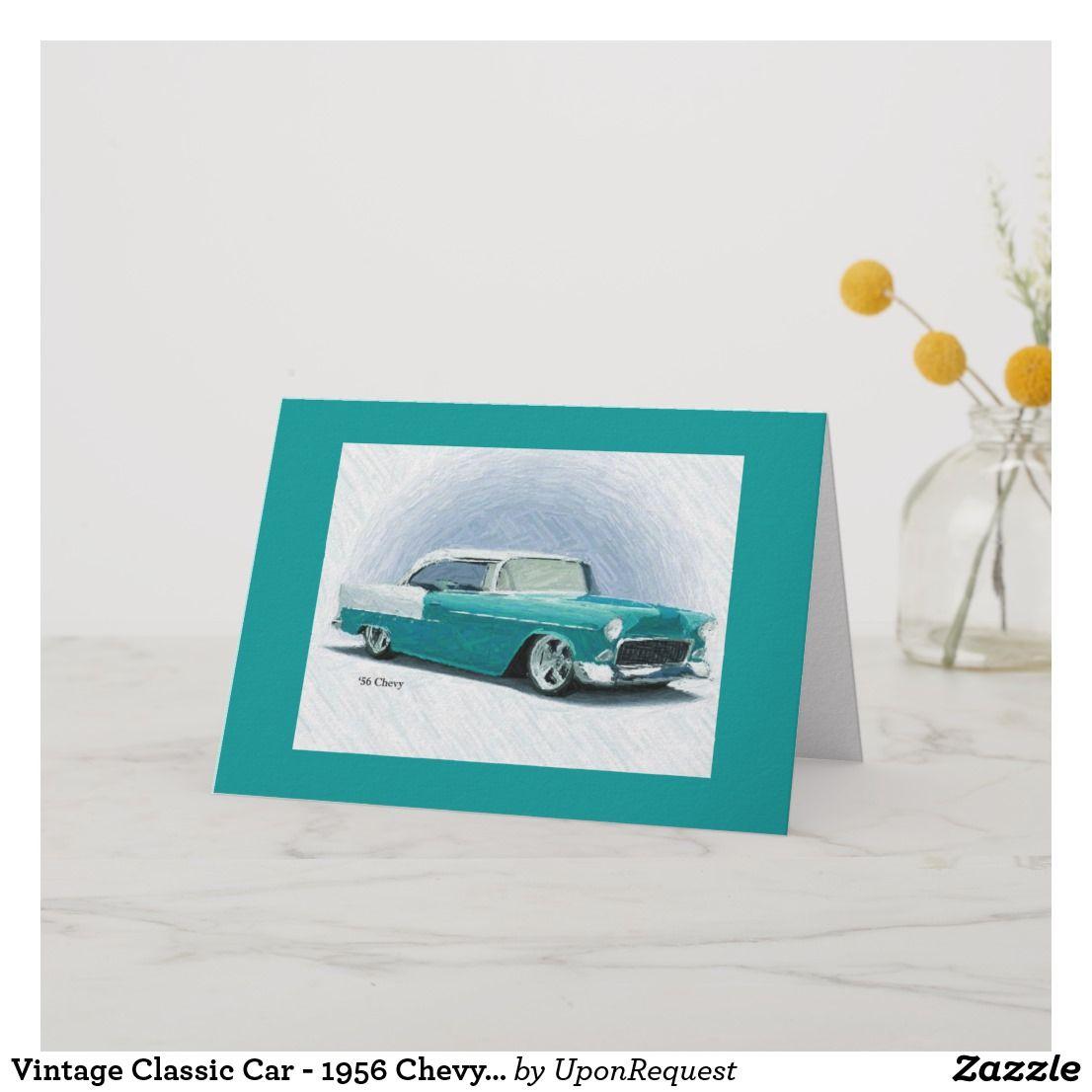 Vintage Classic Car – 1956 Chevy Bel Air Card | Zazzle.com
