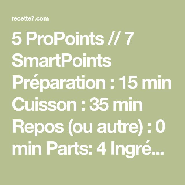 5 ProPoints // 7 SmartPoints Préparation :15 min Cuisson :35 min Repos (ou autre) :0 min Parts: 4 Ingrédients  3 pièce(s) Courgette   2 œuf(s) (moyen) Œuf de poule entier