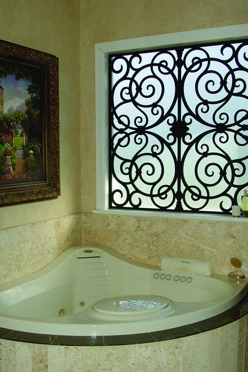 Tableaux Decorative Wrought Iron Grilles Bathroom