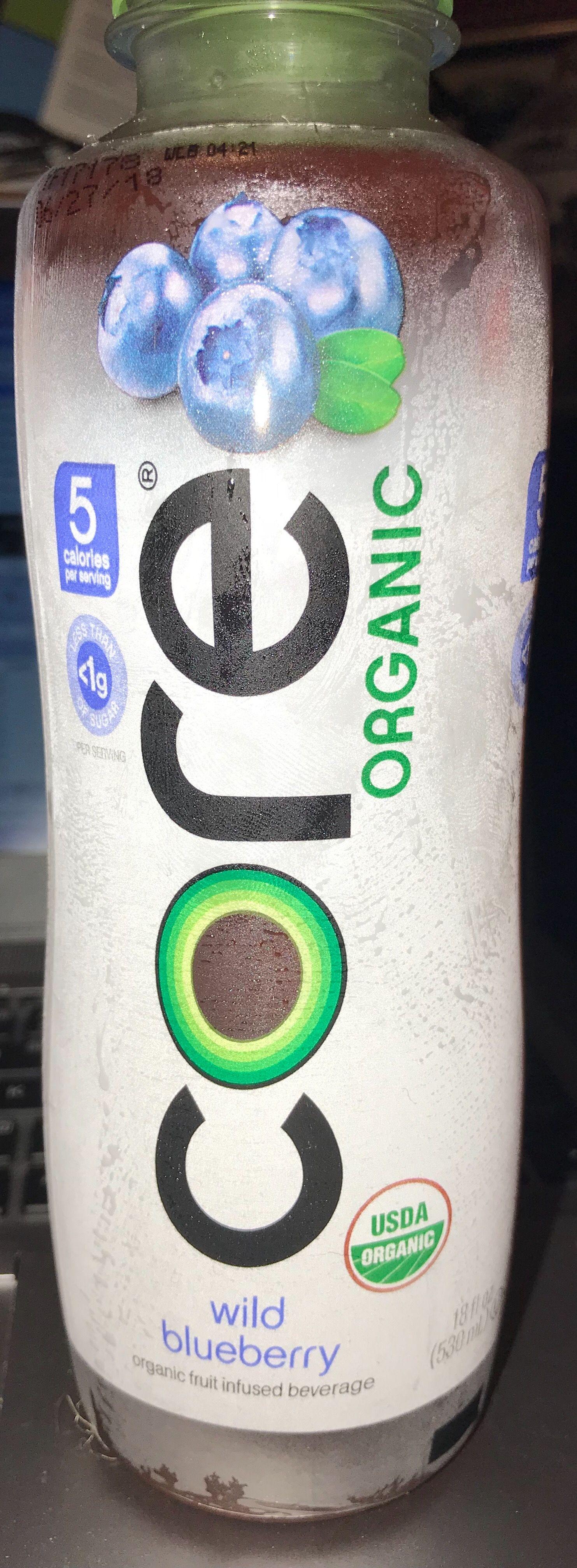 Core organic wild blueberry organic fruit infused beverage