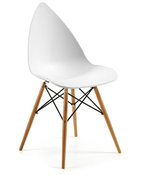 Silla de pl stico blanco con patas de madera decoraci n con muebles de pl stico pinterest - Muebles cabrera huelva catalogo ...