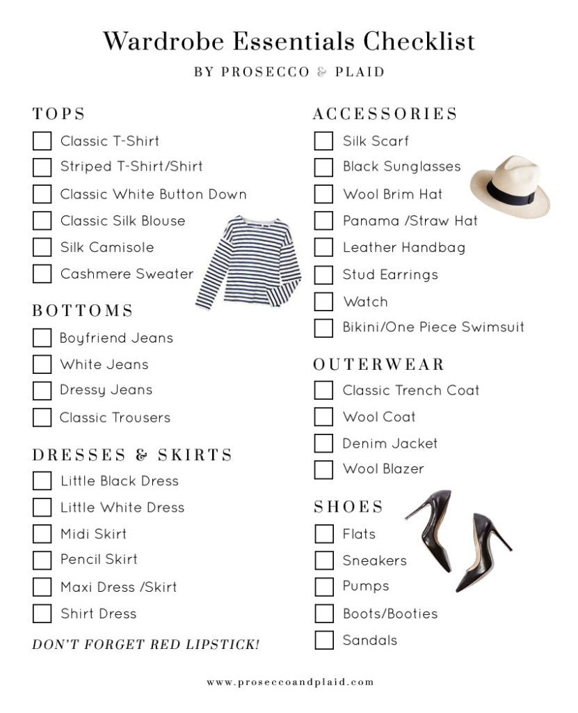 Must-have wardrobe essentials checklist