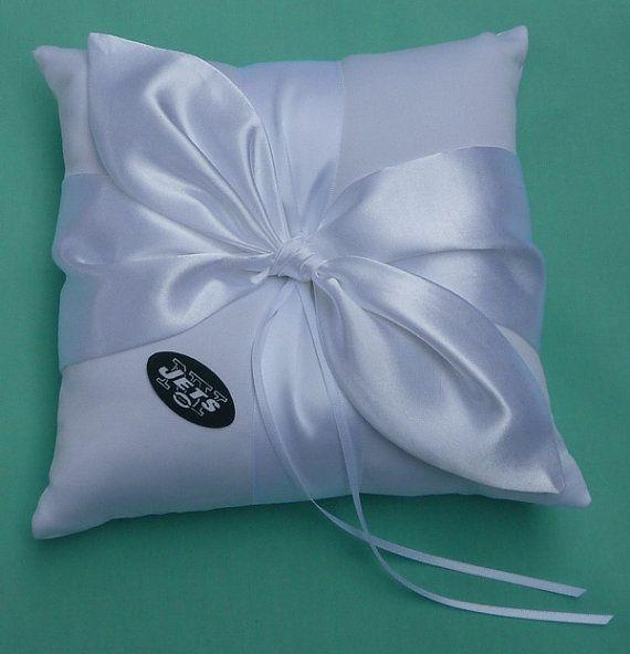 Wedding Ring Bearer Pillow Flower Basket Bridal Garter Set New England Patriots Ne Pats Football Themed