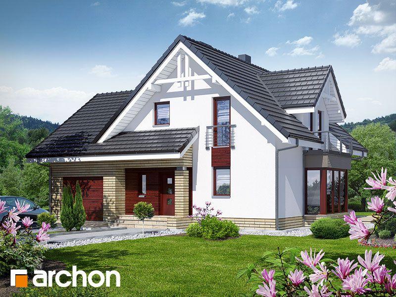 Projekt Dom W Tamaryszkach 2 Nt Widok 1 Haus Und Grundriss