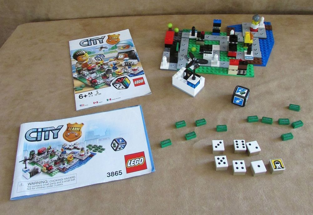 3865 Lego City Alarm game police complete instructions