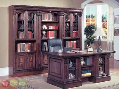 Office Furniture: Huntington Traditional Executive Desk And Library Wall  Bookcase Office Furniture  U003e BUY · Parker HouseHome ...