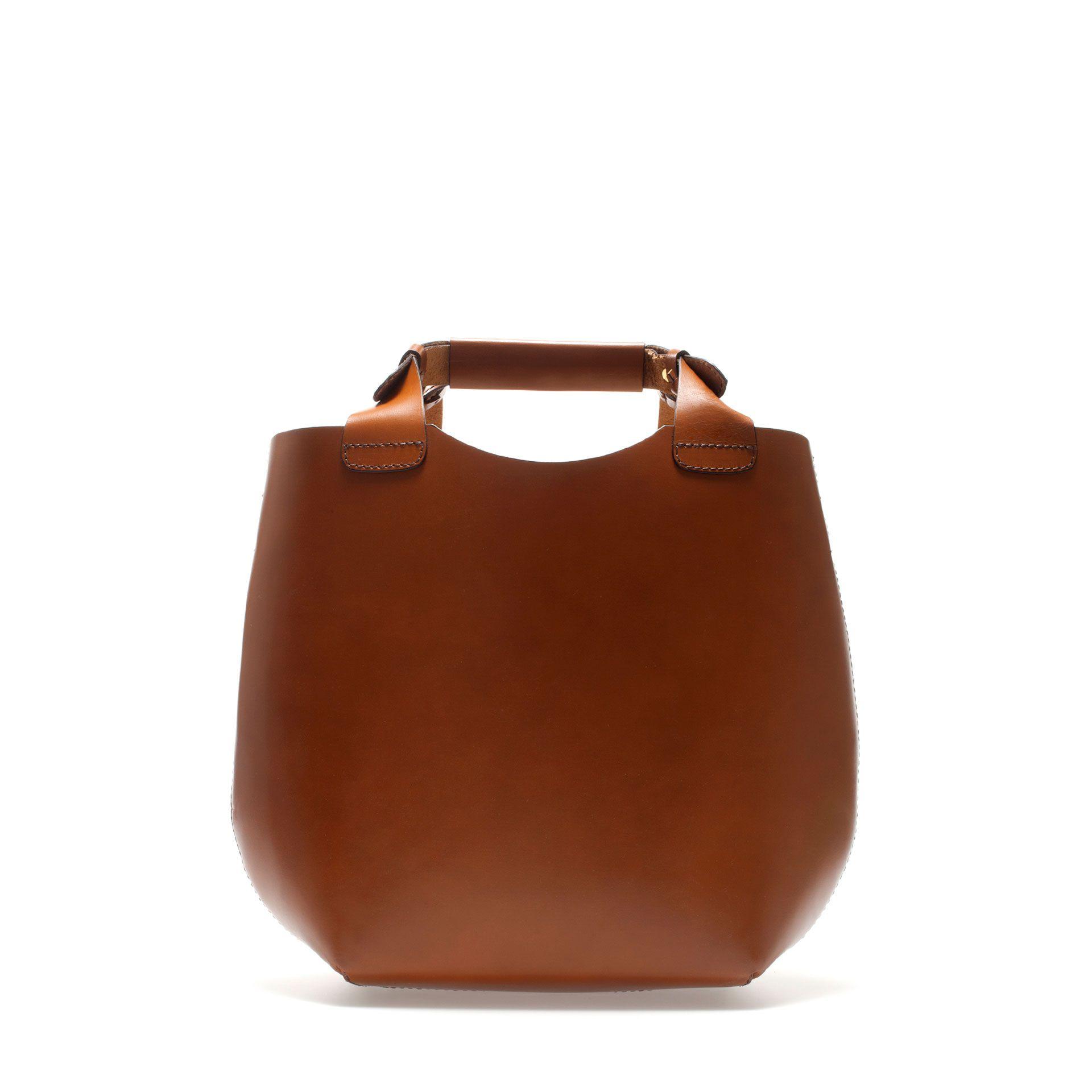 Mini leather tote bag zara - Mini Leather Tote Bag By Zara