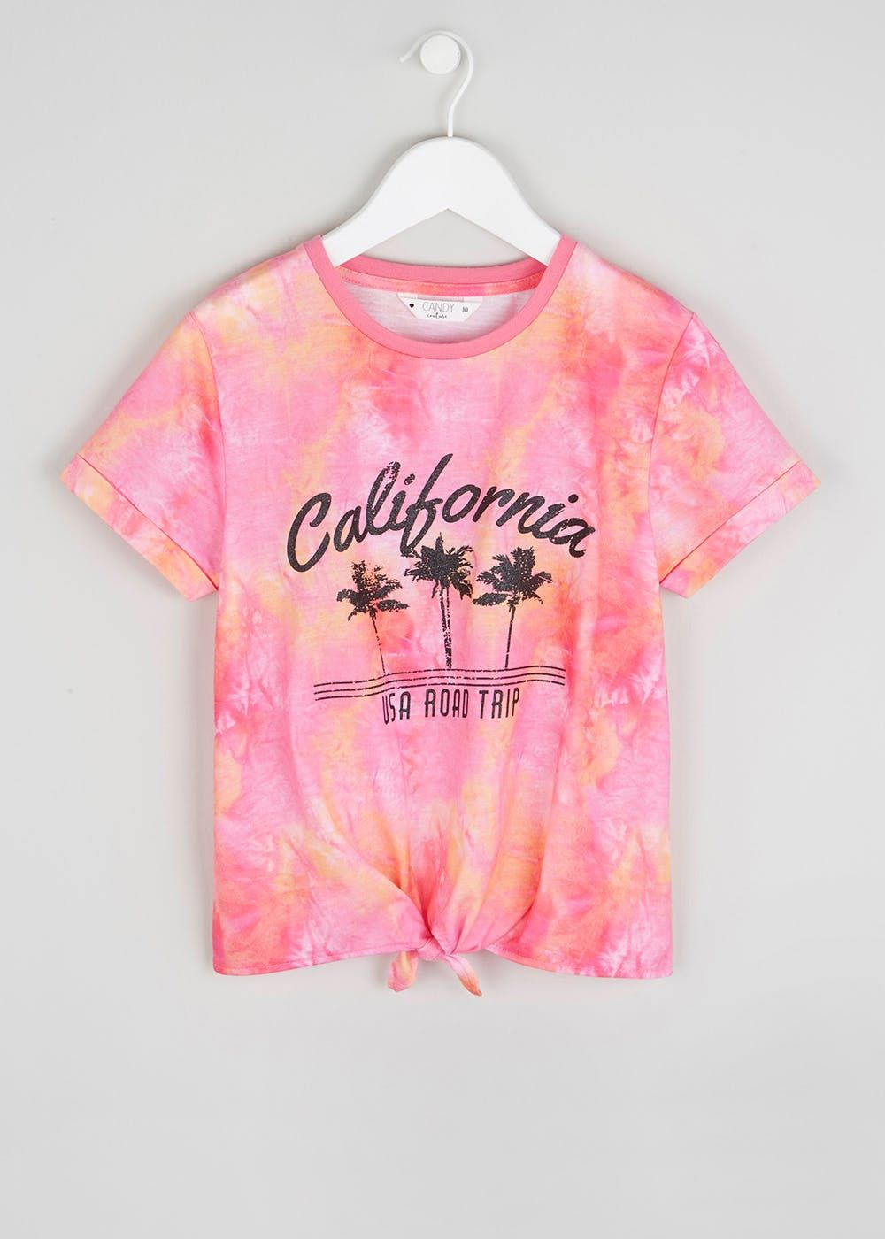 bec857f176 Girls Candy Couture Tie Dye T-Shirt (9-16yrs) – Pink – Matalan