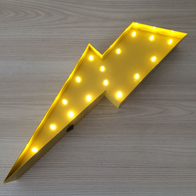 Lightning Bolt Marquee Letter Light 12\