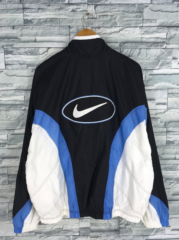 Vintage 90 S Nike Windbreaker Jacket Large Nike Spell Out Big Swoosh Nike Air Multicolor Sportswe Nike Windbreaker 90s Nike Windbreaker Nike Windbreaker Jacket