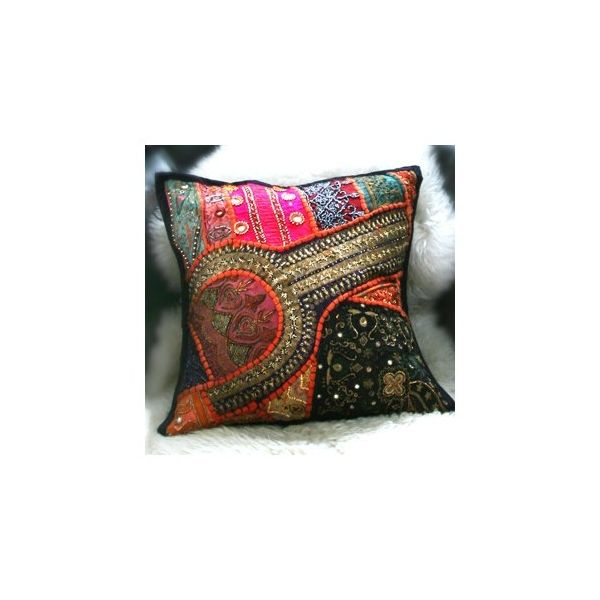 Nepal Handmade Embroidered Throw Pillow Sofa Cushion A04 Material 100 Cottonsize 40 40cmnot Including Pill Throw Pillows Sofa Throw Pillows Cushions On Sofa