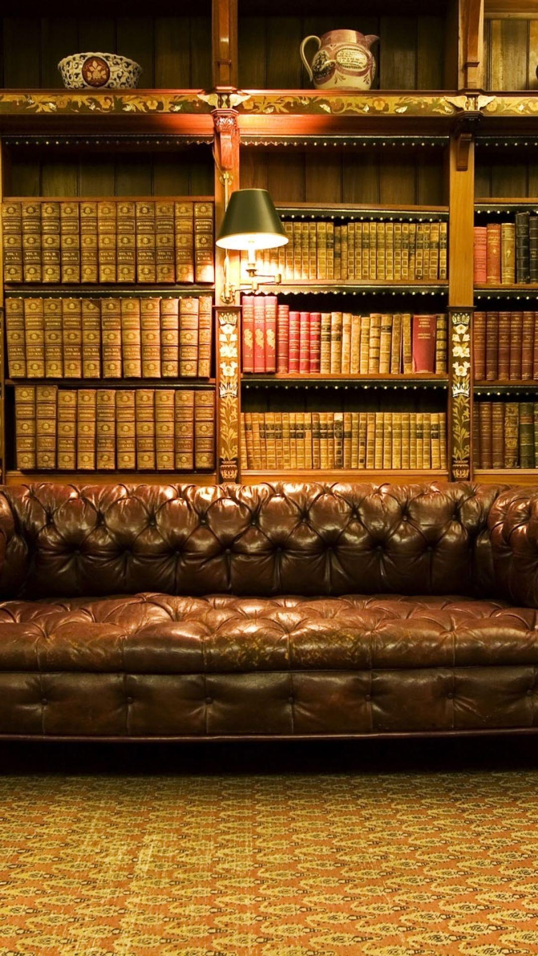 1080x1920 wallpaper old library design interior design home