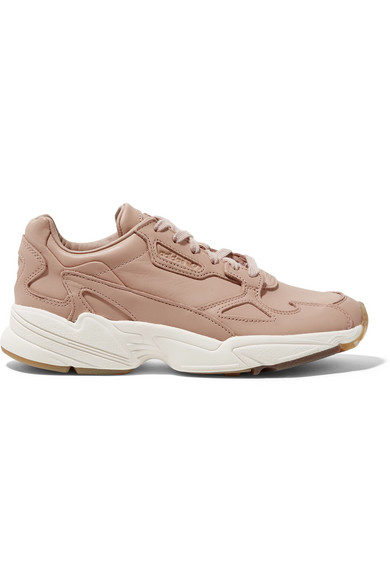 adidas Originals - Falcon Leather Sneakers - Sand | Leather ...