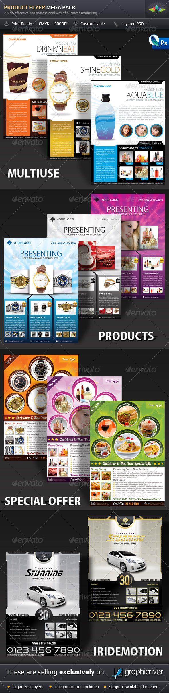 Product Flyer Mega Pack  Marketing Flyers Brochures And Postcard