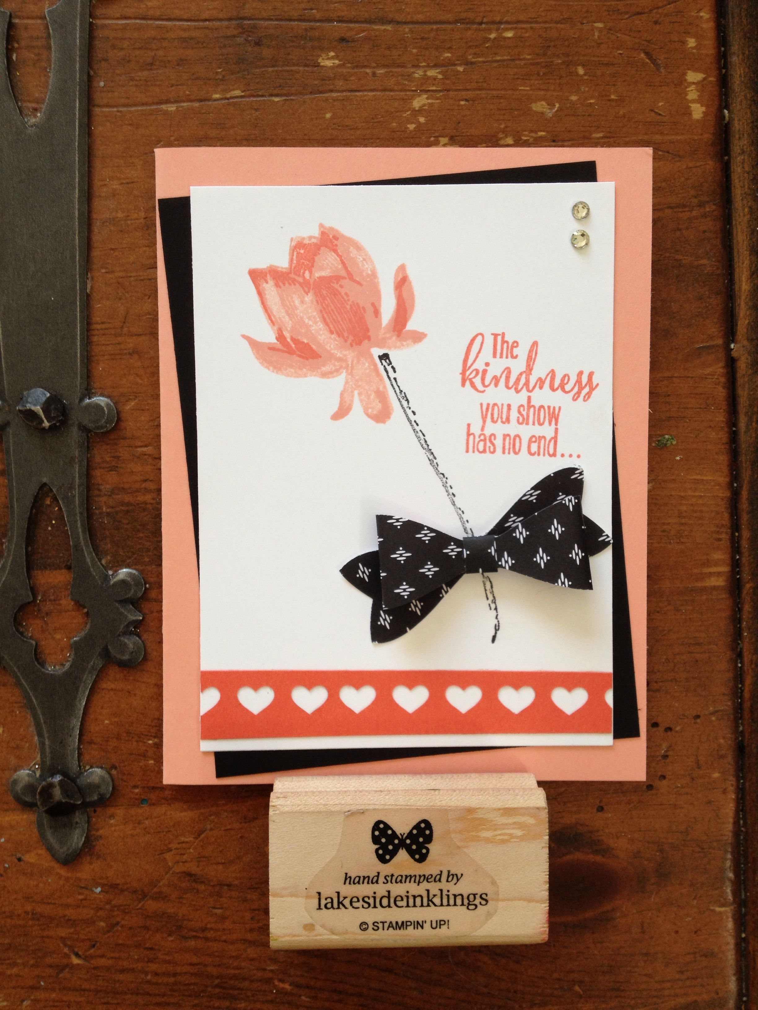 Stampin' Up! Sale-a-bration, Sab 2015, Lotus Blossom, heart border punch, bow builder punch, occasions catalogue spring 2015, www.lakesideinklings.stampinup.net